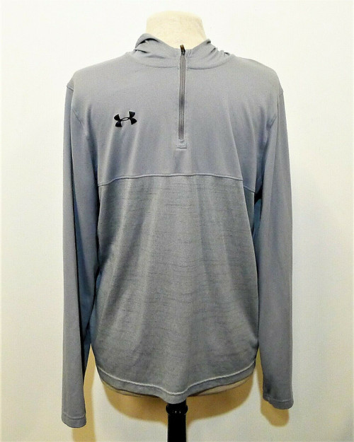 Under Armour Gray Kanakuk On Sleeve 1/4 Zip Long Sleeve Pull Over Shirt Size L