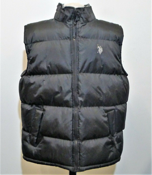 U.S. Polo Assn. Men's Black Puffer Vest Size L
