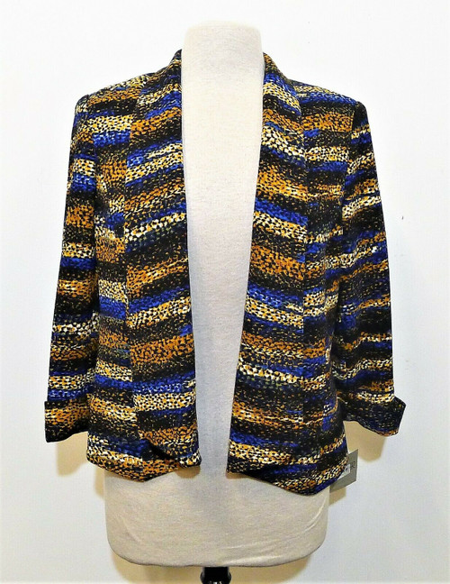 Kasper Women's Multicolor Open-Front Shoulder Pads Jacket Size 6 - NEW WITH TAGS