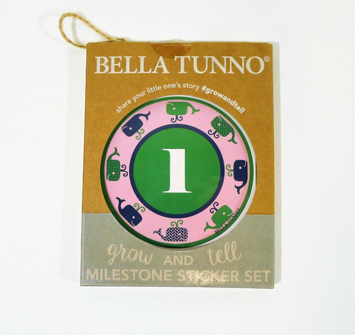 Bella Tunno Grown & Tell Milestone Stickers For Baby Girl 1-12 Months - OPEN BOX