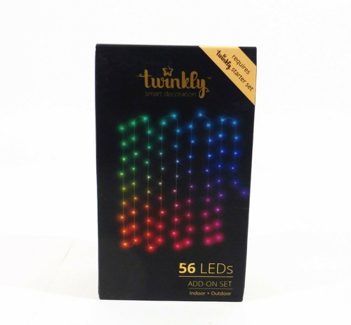 Kurt Adler Twinkly 56 LED String Light ADD-ON Set  NEW  *Requires Starter Set