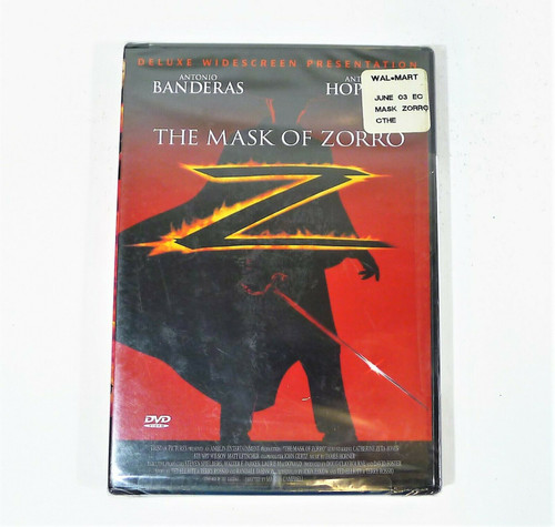 The Mask of Zorro Deluxe Widescreen Presentation DVD - NEW SEALED