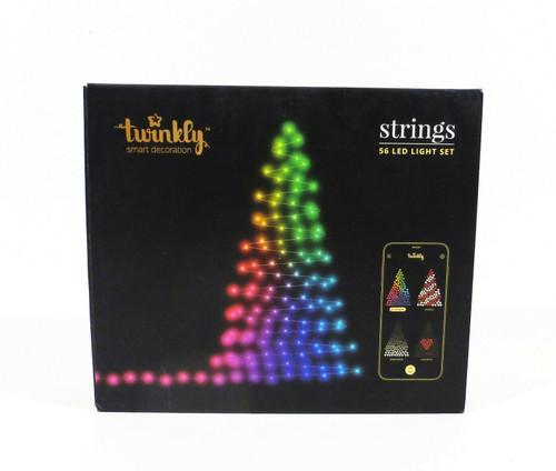 Kurt Adler Twinkly 56 LED String Lights Customizable Wifi-Enabled LED Lights NEW