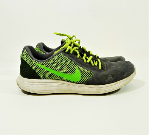 Nike Men's Gray/Green Revolution 3 III Running Shoes Size 10.5 - 819300-005