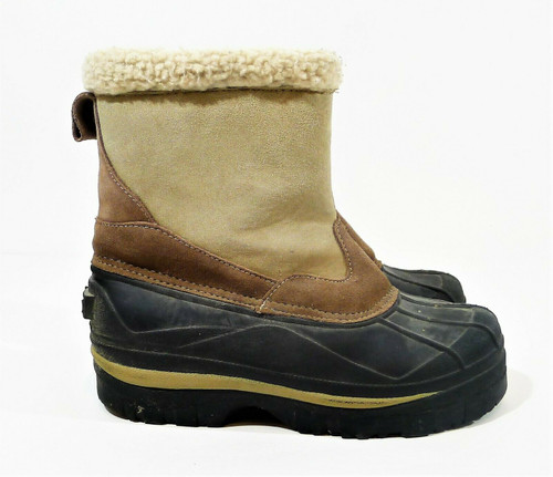 Polar Edge Thinsulate Women's Suede Leather Upper Snow/Rain Boots Size 8