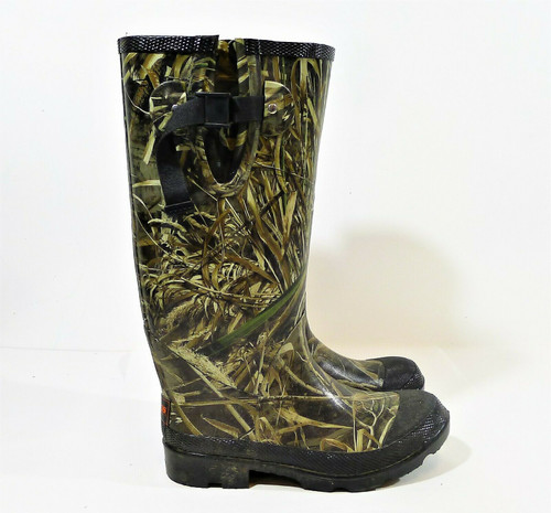 Brazos Work Force Camouflaged Rubber Boots Size 8 Style FWBWRB1072