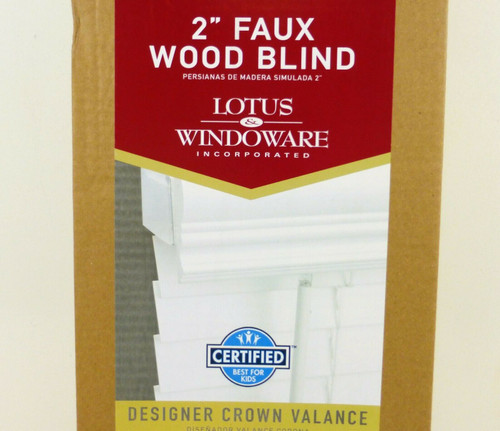 "Lotus & Windoware 2"" Faux Wood Cordless Blinds in White 25x71  FCX2571WH  NEW"