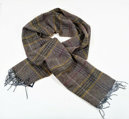 """Magee Multicolored Wool Plaid Scarf 11.5"""" W x 69"""" L - NEW WITH TAGS"""