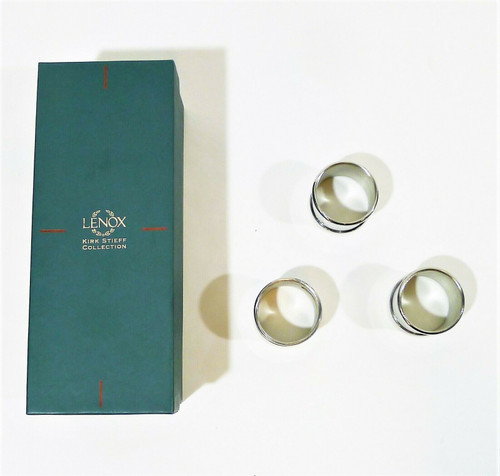 Set of 3 Lenox Kirk Stieff Collection Pewter Napkin Rings - **MISSING 1 IN SET