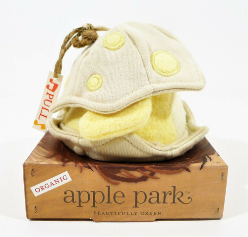 Apple Park Organic Cotton Musical Baby Bird Eggshell Pull String Toy - NEW