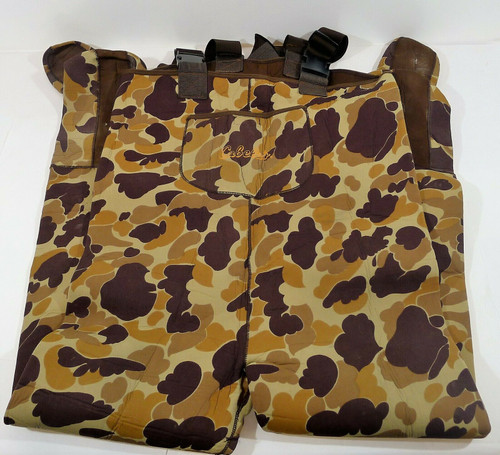 Cabela's Men's Camouflage Neoprene Hunting Wader Bib Overall Boot Foot Size TL-L
