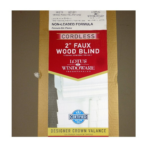 "Lotus & Windoware 71x71 Cordless 2"" Faux Wood Blind LOCAL PICKUP ONLY, NO SHIPPING"