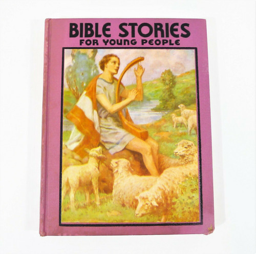 Vintage Bible Stories for Young People Large Print Hardback Book **TORN COVER