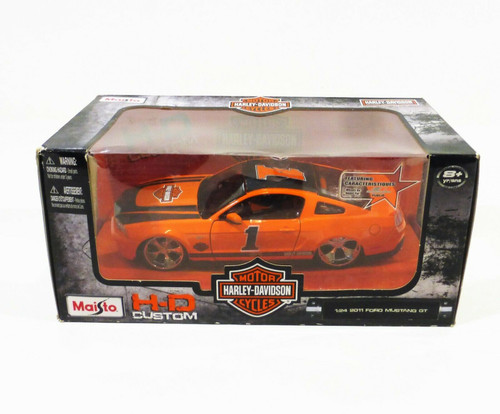 Maisto Harley Davidson 2011 Ford Mustang GT 1:24 Scale Replica NEW *Worn Package