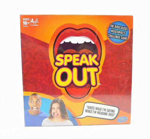 Hasbro Speak Out Board Game Family Ridiculous Mouthpiece Challenge - NEW SEALED