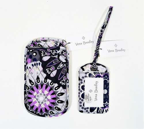 Vera Bradley Mimosa Medallion Double Eye Case and Luggage Tag - NEW WITH TAGS