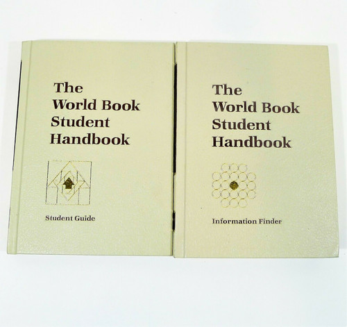 Set of 2 The World Book Student Handbook Hardback Books - Guide and Information