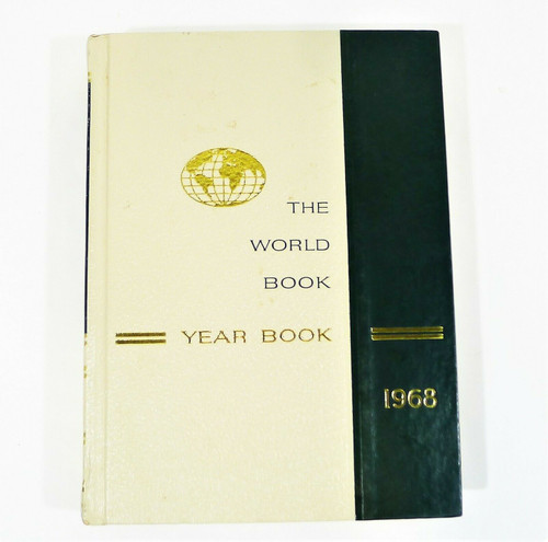 The World Book 1968 Year Book Hardcover Book