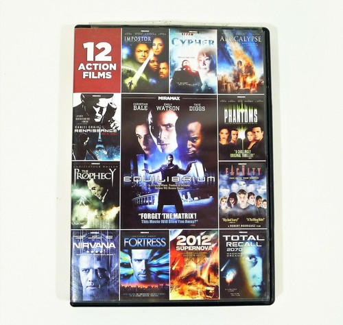 12 Action Films 3-Disc DVD - Includes Imposter, Fortress and More