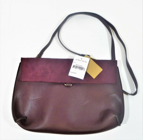 Street Level Burgundy PVC Crossbody Purse - NEW WITH TAGS