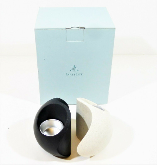 PartyLite Yin Yang Tealight Candle Holders 2 Piece Set P7981 - NEW IN BOX