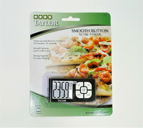 """Taylor 5856 Smooth Button Touch Timer Magnet 3"""" X 1.5"""" X 3/8"""" (Pack of 6)  NEW"""