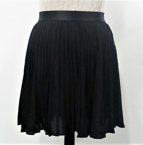 Express Women's Black Pleated Lined Mini Skirt Size S/P - NEW WITH TAGS