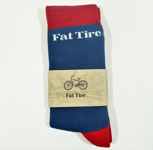Fat Tire Brewery Beer Blue and Red Socks One Size Fits All - NEW