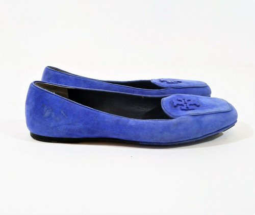 Tory Burch Women's Jelly Blue Fitz Loafer Size 7M **LIGHT DIRT AND SCUFFING