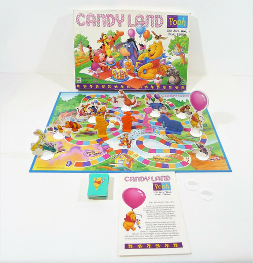 Milton Bradley Winnie the Pooh Candy Land Game 100 Acre Wood Picnic Edition