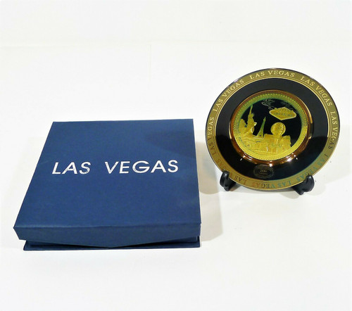 2006 NAPS National Convention 24Kt Gold Plated Las Vegas Small Collector's Plate