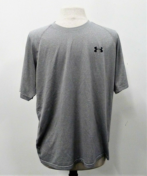 Under Armour Men's Gray Loose Heat Gear T-Shirt Size Large
