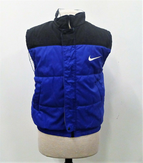 Nike Women's Blue and Black Puffer Vest Size Medium 8-10