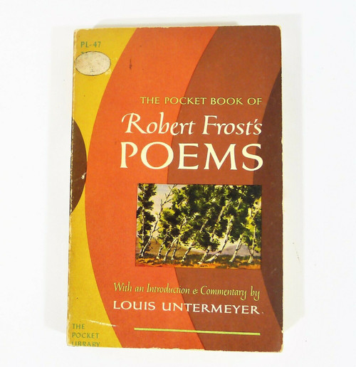 1959 The Pocket Book of Robert Frost's Poems Paperback Book