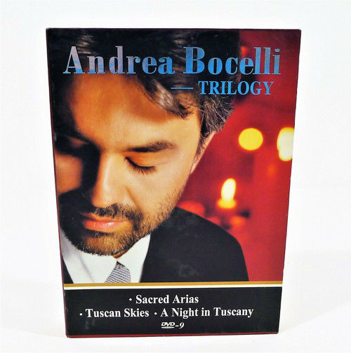 Andrea Bocelli Trilogy DVD's - Sacred Aries, Tuscan Skies and A Night in Tuscany