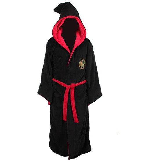 Harry Potter Men's Black/Red Gryffindor Slytherin Wizard Howart's Robe One Size