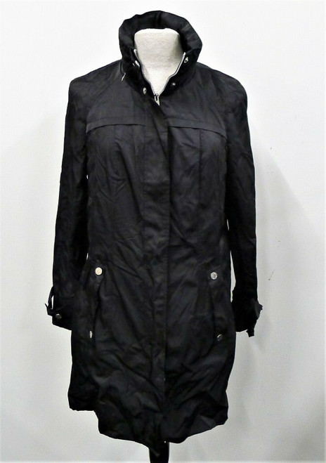 Calvin Klein Women's Black Hooded Raincoat Windbreaker Jacket Size M