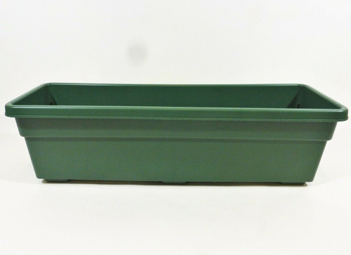 "Dynamic Design 11qt. Window Box Planter in Fern (Green) 24"" - CASE OF 12 - NEW"