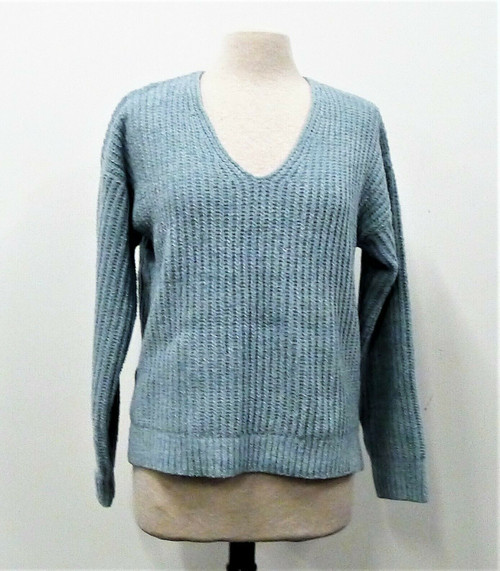 Lucky Brand Teal V-Neck Pullover Long Sleeve Sweater Size M - **NEW WITH TAGS