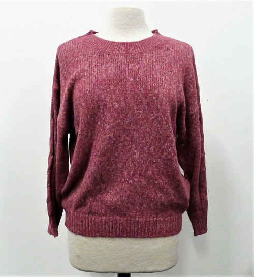 Wit & Wisdom Women's Raspberry Rose 3/4 Sleeve Sweater Size Medium