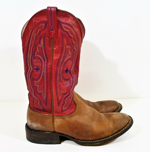 Ariat Women's Maple/Crimson Round Toe Leather Cowboy Boots Size 9 B - SEE DESCR.