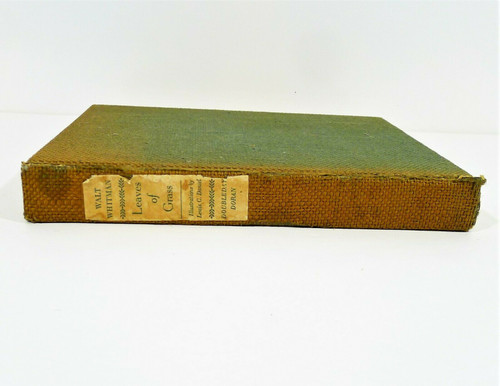 1940 Leaves of Grass Cloth Hardback Book by Walt Whitman **COVER HAS DIRT/WEAR