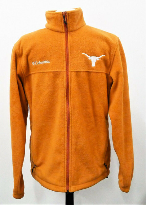 Columbia Burnt Orange Texas Longhorns Fleece Jacket Size M