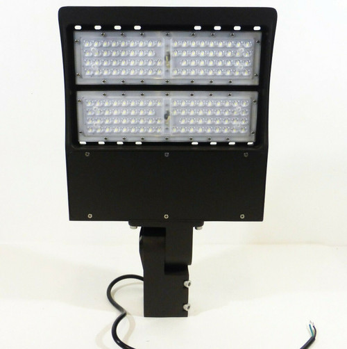 LED Shoebox Light 150W 5000K  E468128 in Brown  NEW - OPEN BOX