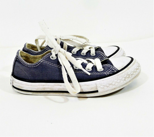 Converse Youth's Indigo Blue All Star Low Top Lace Up  Shoes 2J237 Size 11