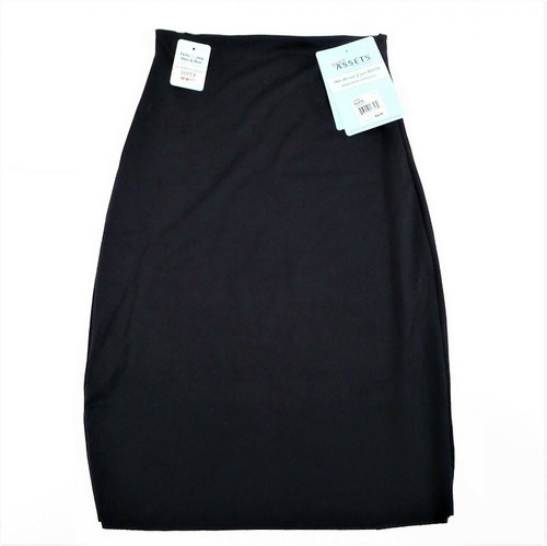 Love Your Assets Black Half Slip Skirt Size Large - NEW WITH TAGS