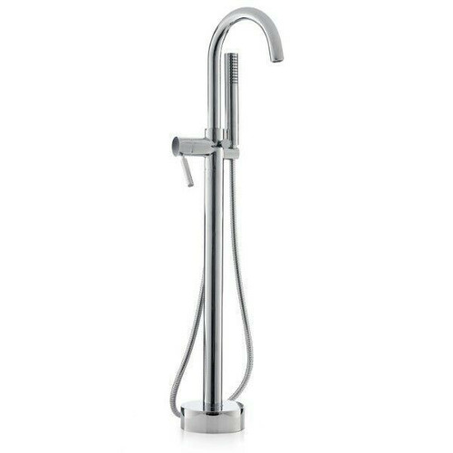 Cheviot Contemporary Free Standing Tub Filler w/Handshower in Brushed Nickel