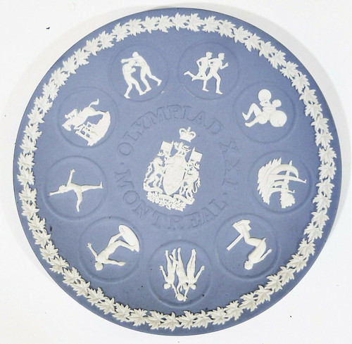 "Wedgewood Jasperware Olympiad XXI Montreal 8"" Collector Plate"