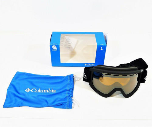 Columbia Sportswear Black Upshoot Mirror Ski Goggles Whirlibird Large -OPEN BOX