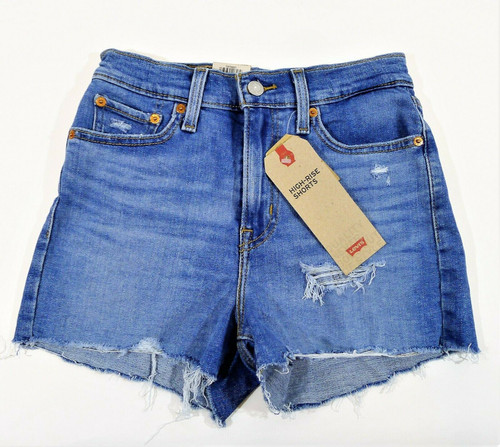 Levi's Women's High Rise Blue Jean Shorts Size 2 W26 - NEW WITH TAGS